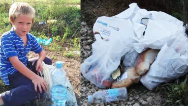 Tego nie pokażą ci w telewizji… Węgierski chłopiec zbiera jedzenie wyrzucane przez imigrantów!