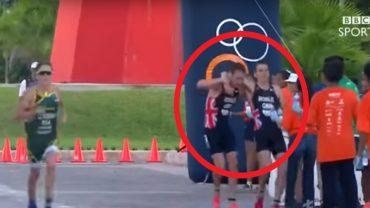 Chłopak nie pozostawił brata samego, gdy ten opadł ze sił podczas triatlonu