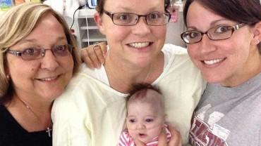 Elayn Nigrelli przyszła na świat, gdy serce jej matki, Eriki, przestało bić!