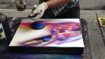 To niesamowite, co ten artysta robi sprayem…