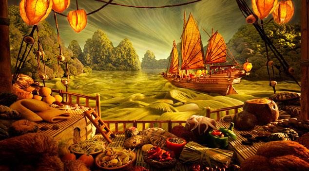 Tego jeszcze nie było! Prawdziwe dzieła sztuki wykonane z produktów spożywczych!