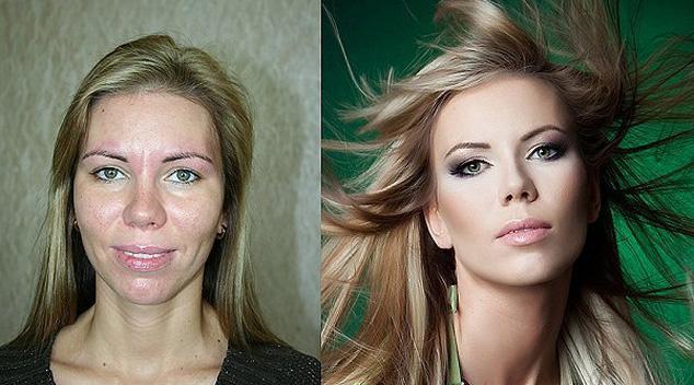 Makijaż, światło i Photoshop - czyli jak zmienić kobietę w modelkę. 15 przykładów metamorfoz!