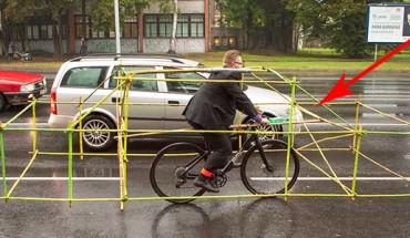 Bezpieczeństwo przede wszystkim! Zobacz, co wymyślili ci rowerzyści!