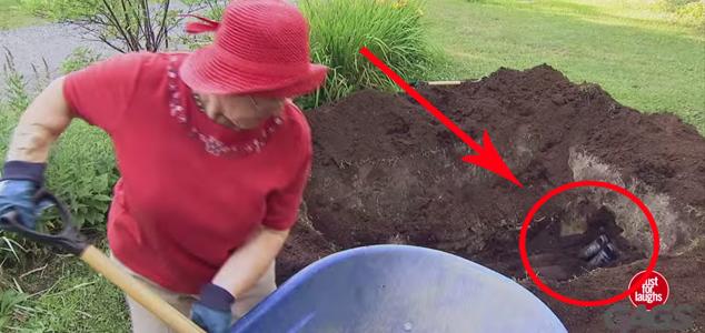 Kiedy zobaczyłem, co zakopuje ta kobieta, przecierałem oczy ze zdziwienia...