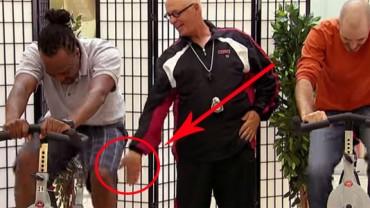 Niespokojne ręce trenera fitness! Nie wiem, jak ja bym zareagował w takiej sytuacji! OMG!
