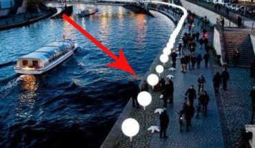 8000 balonów z okazji 25 rocznicy upadku muru berlińskiego.