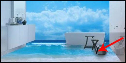 Łazienki z podłogą 3D. Zobacz koniecznie, jakie to efektowne!