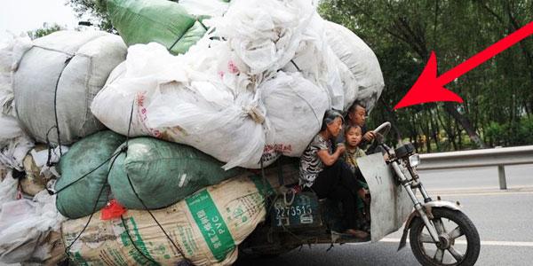 Tak wyglądają niektóre pojazdy w Chinach! To, że są przeładowane, to za mało powiedziane!