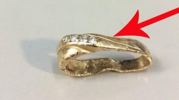 Zniszczony pierścionek wydawał się nie do odratowania. Jubiler jednak nie dał za wygraną. Zobacz efekty jego pracy!