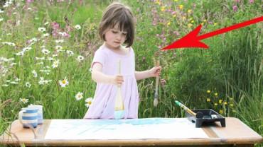 Ta chora na autyzm 5-letnia dziewczynka dopiero uczy się mówić. Znalazła jednak niezwykły sposób na wyrażanie swoich emocji i uczuć!