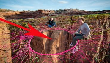 Ci mężczyźni to prawdziwi amatorzy mocnych wrażeń!  Ich hamak zawisł 120 m nad ziemią! Zobacz, po co to zrobili!
