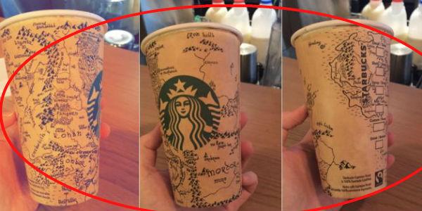 Stworzył szczegółową mapę Śródziemia na kubku kawy. Zajęło mu to ponad 5 godzin!