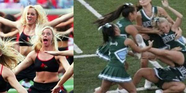 Śmieszne wpadki cheerleaderek. Dobra zabawa gwarantowana - zobacz koniecznie!