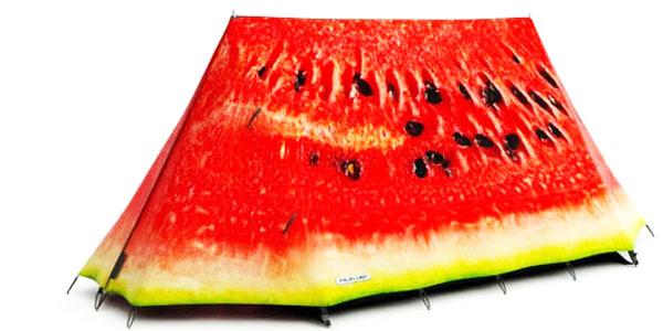 Nie! To nie jest słodki kawałek arbuza! Przyjrzyj się dokładnie! To najbardziej odjechanie namioty, jakie kiedykolwiek widziałam!