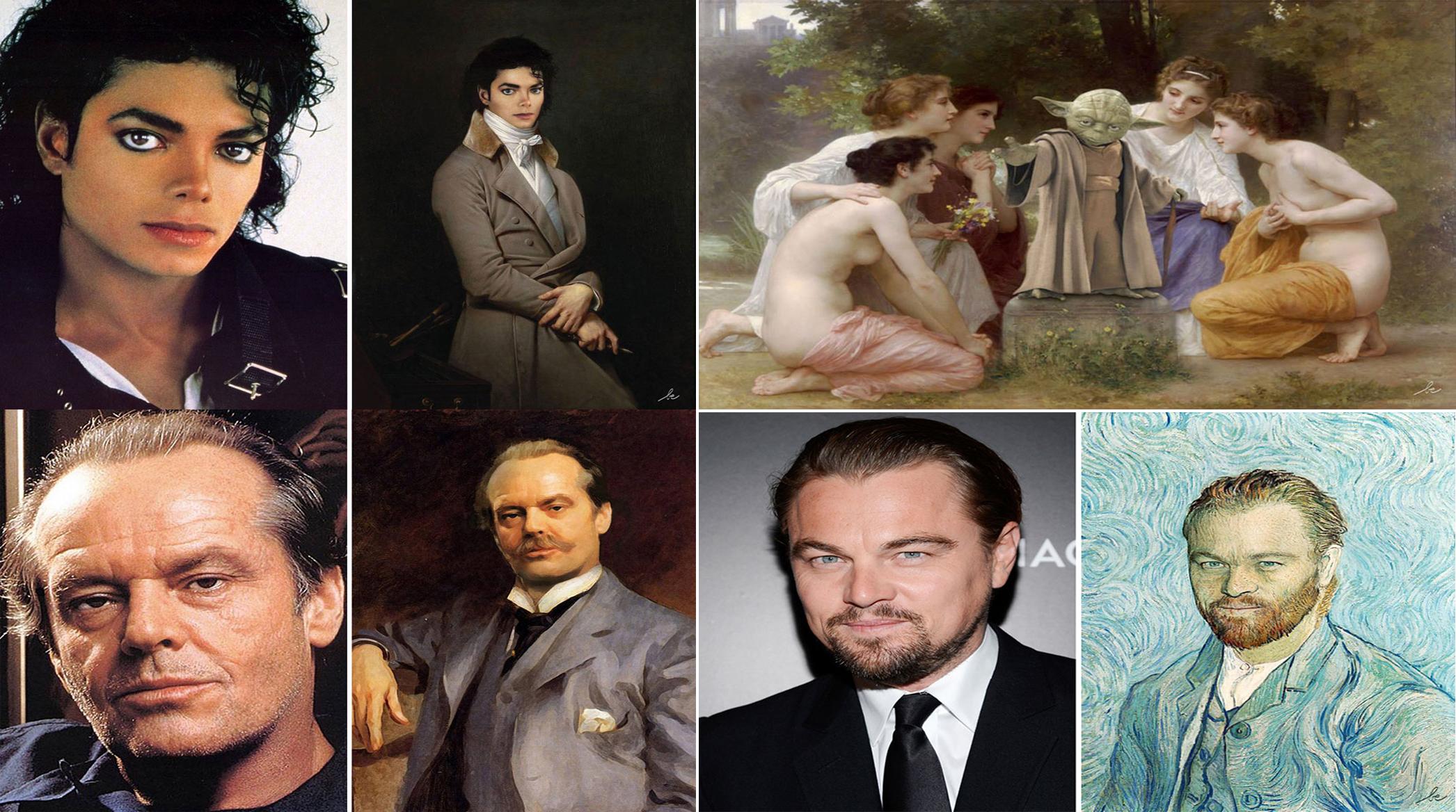 Ta artystka przerabia obrazy historyczne, dodając do nich znanych współczesnego świata. Zabawne!