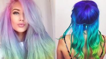 Pastelowe włosy w tęczowych kolorach to nowy trend w farbowaniu na 2015 rok