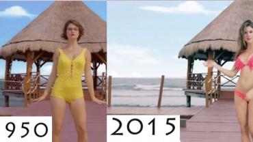 Kiedyś a dziś. Oto jak w ciągu ostatnich 65 lat ewoluował strój kąpielowy