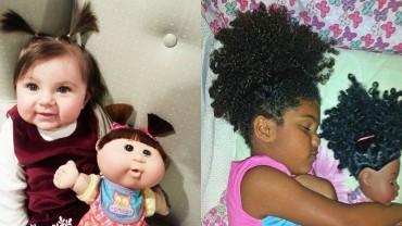 Tych 12 dzieci wygląda identycznie jak ich lalki