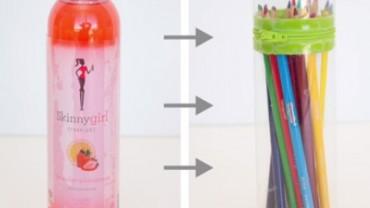 Zrób to sam! Oto jak przerobić plastikową butelkę na piórnik.