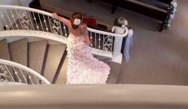 Wygląda jak zwykła suknia ślubna, ale kiedy dowiecie się, jak powstała, będziecie w szoku. Ja jestem pod mega wrażeniem!