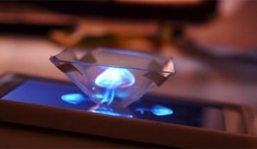 Wziął kawałek plastiku i zrobił z niego hologram 3D!