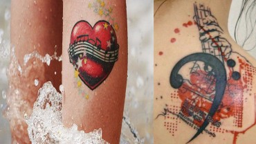 Tatuaże inspirowane muzyką!