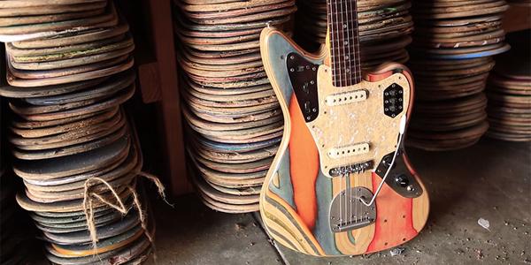 Zmienia połamane deskorolki w... piękne gitary!