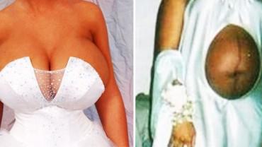 Gdy patrzę na te suknie, wiem jedno: Nigdy się nie ożenię! Zobaczcie, 16 najstraszniejszych sukien ślubnych na świecie!