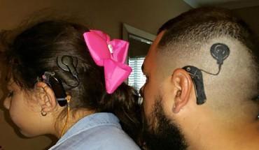 Tata 6-letniej dziewczynki zrobił sobie tatuaż by nie czuła się inna!