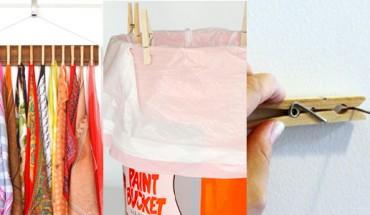 10 ciekawych sposobów na wykorzystanie klamerek do bielizny