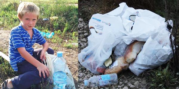 Tego nie pokażą ci w telewizji... Węgierski chłopiec zbiera jedzenie wyrzucane przez imigrantów!