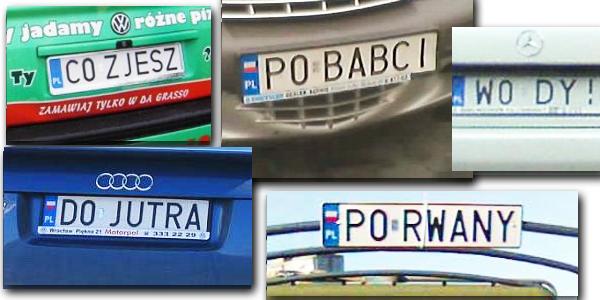 Najciekawsze tablice rejestracyjne zaobserwowane na polskich pojazdach! Zobacz, jak kreatywni są niektórzy kierowcy