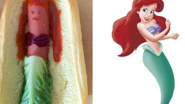 Księżniczki Disneya jako hot-dogi!