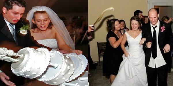 Te ślubne wpadki z pewnością zostały zapamiętane na zawsze!