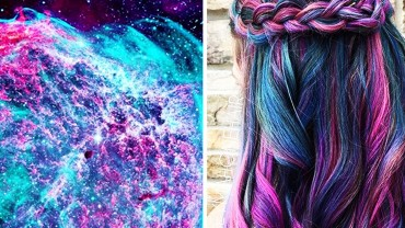 Kosmiczne fryzury na czasie. Zobaczcie 20 szalonych koloryzacji o nazwie galaxy hair!