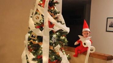 Z okazji świąt mężczyzna zmienił swojego syna w uroczego elfa!