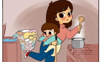 Argentyńska ilustratorka w zabawny sposób pokazała kłopoty każdej mamy ;)