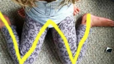 Jeśli kiedykolwiek zobaczysz, że twoje dziecko układa nogi w ten sposób, natychmiast zwróć mu uwagę! To dość niebezpieczne!