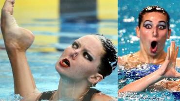 12 zdjęć z zawodów pływania synchronicznego, które skutecznie poprawią ci humor ;)