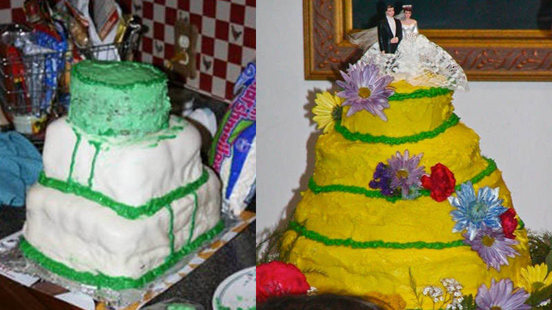 13 naprawdę strasznych tortów ślubnych! Popłaczesz się ze śmiechu jak panna młoda z żalu!