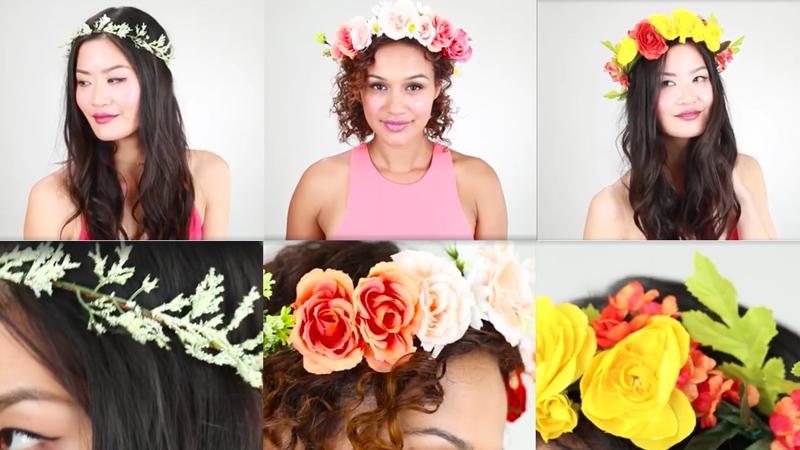 Zakochałaś się w kwiatach we włosach? Zobacz, jak w kilka minut możesz zrobić wymarzony wianek sama!