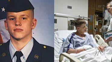Żołnierz, który uległ tragicznemu wypadkowi i stracił twarz, przeszedł szereg operacji. Rezultaty walki lekarzy są zdumiewające!