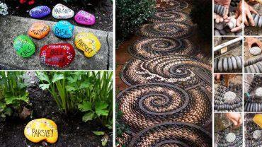 25 fantastycznych ogrodowych dekoracji wykonanych z kamieni. Zainspiruj się i zrób to samo u siebie!