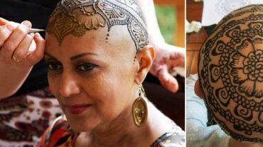 Wzięli hennę i zaczęli malować wzory na jej głowie. Wzruszysz się, gdy poznasz powód, dla którego to zrobili