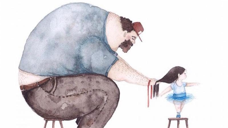 Miłość ojców do córek jest z niczym nieporównywalna. Oto urocze grafiki, obrazujące wyjątkową relację tatusiów i ich małych księżniczek