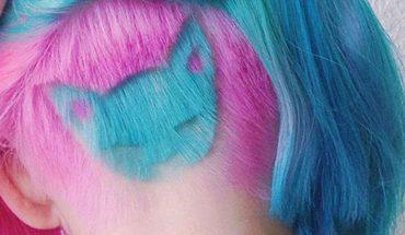 """""""Undercut hair"""" to najmodniejsza fryzura tego roku! Zobaczcie jej kolorową wersję z kotem, która podbiła Instagram"""