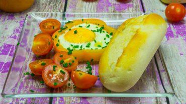Kreatywne śniadanie – jajka sadzone w paprykowych krążkach!