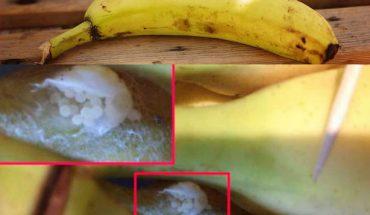 Kobieta znalazła w bananie przerażająca niespodziankę