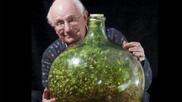 Poznajcie Davida Latimera, właściciela nietypowego ogrodu, który mieści się w nieotwieranej od ponad 40 lat butelce