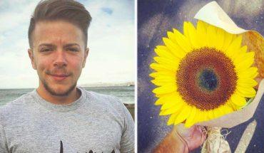 Podarował słonecznik obcej zapłakanej kobiecie. Nie sądził, że tak na niego zareaguje